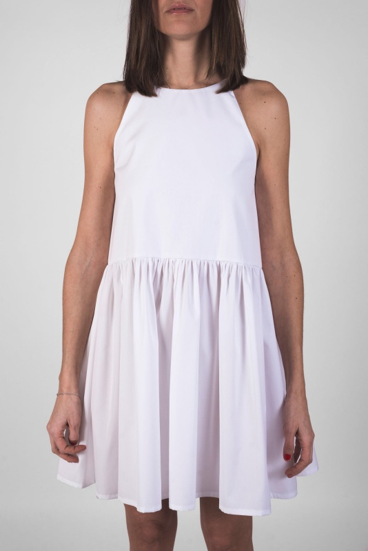 White Shoulder-Strap Dress