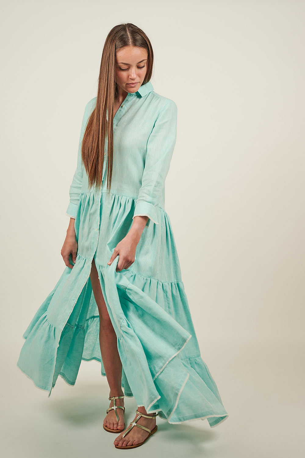 Long Jade Green Dress