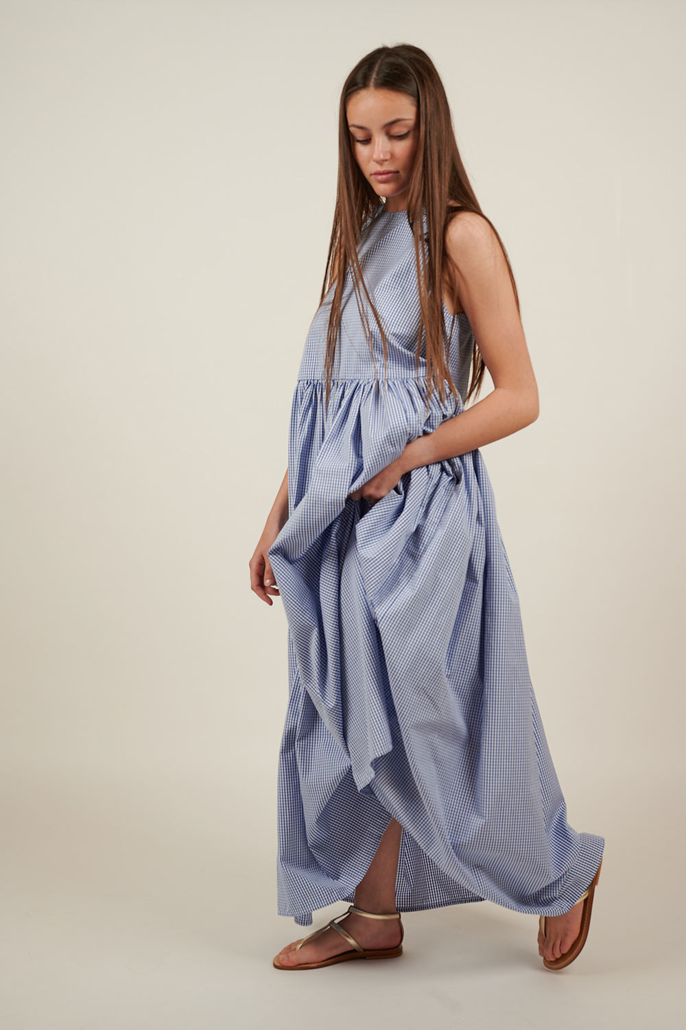 Long Shoulder-Strap Dress