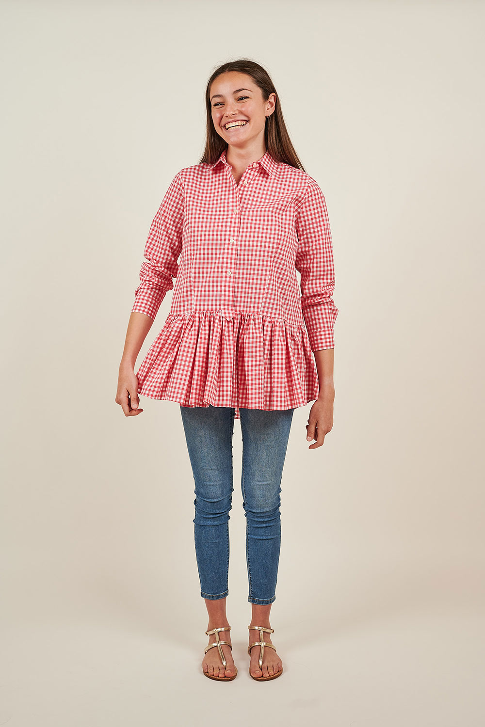 Red Vichy Shirt