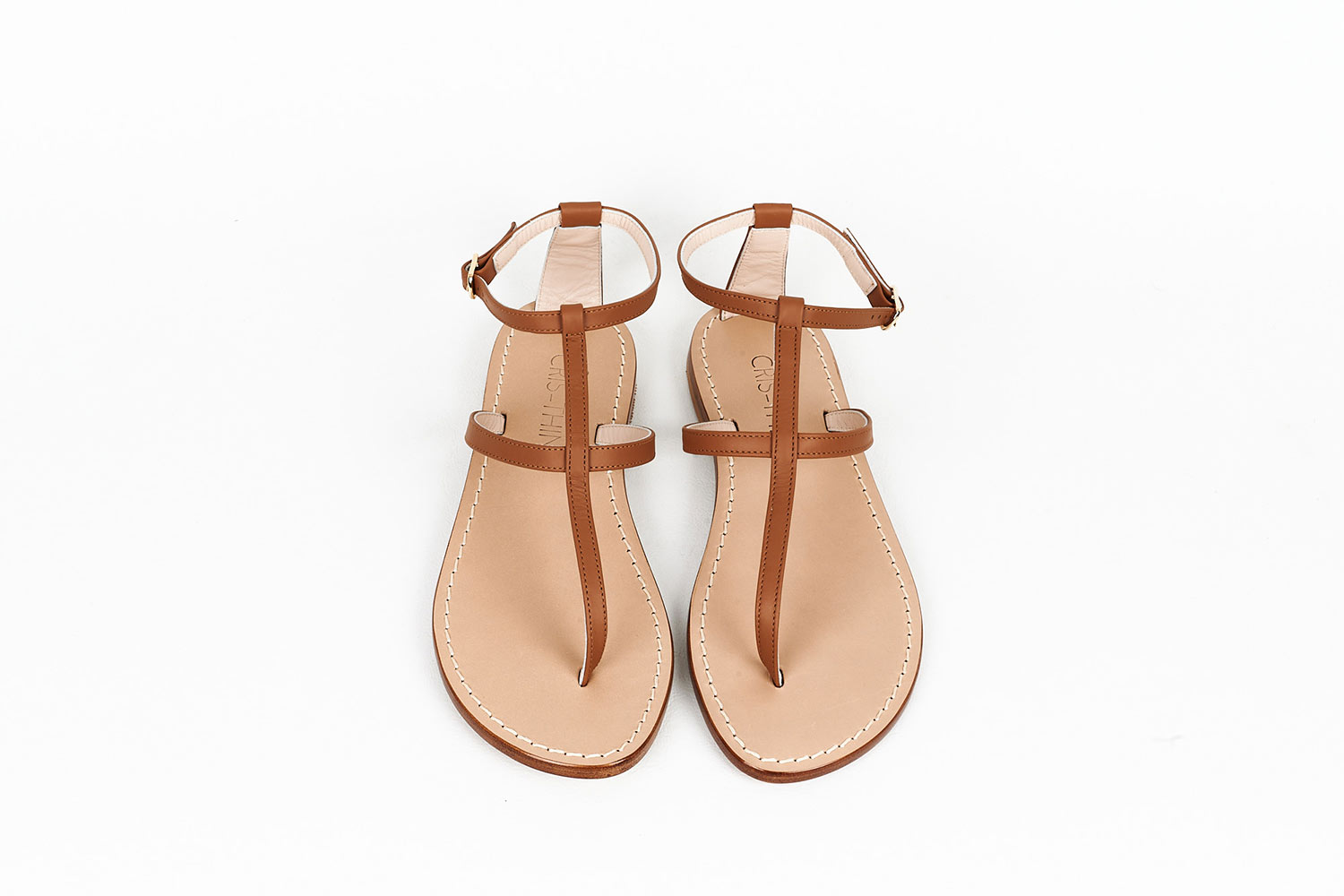 Natural Leather Capri Sandals